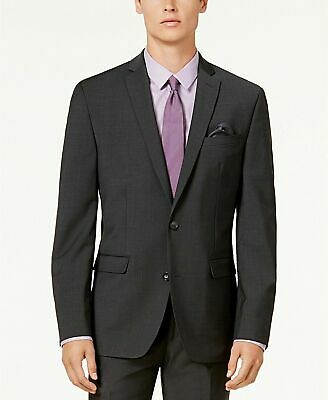 $425 Bar III Men's Slim-Fit Active Stretch Suit Jacket 38R Charcoal Dark Gray