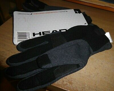 Head XL Hybrid BLACK Gloves BRAND NEW ON CARD