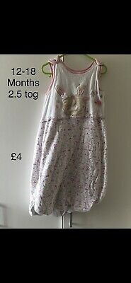 Baby Sleep Bag Girls 12-18 Months 2.5 Tog