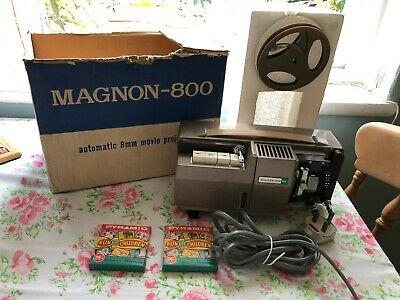 Magnon 800-ZR 8 mm Projector with Two Films (spares or repair)