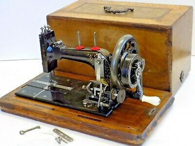 Frister Rossmann not Singer Sewing Machine Hand Crank Vintage Antique Collectibl