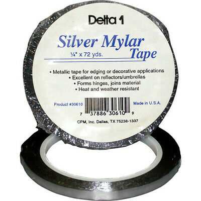 "Delta1 Silver Mylar Tape 1/4"" by 72-yards"