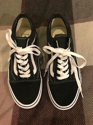 ladies vans old skool classic platform wedge black uk 6 authentic 39 euro chunky
