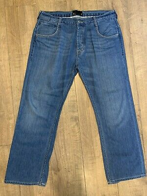 """Ben Sherman """"Beat"""" Straight Fit Mens Blue Jeans W36 L30 Button Fly DMW642AX Mod"""
