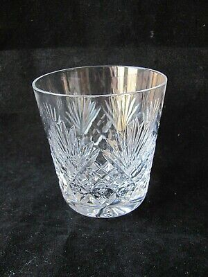 """Royal Doulton Crystal JUNO Cut 3½"""" Old Fashioned Whiskey Glass / Tumbler"""
