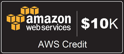AWS - Amazon Web Services $10,000 credits - 2 year expiry