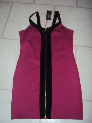 Bnwt Marks & Spencer (M&S) Limited Collection Cerise Bodycon Dress, Size 14