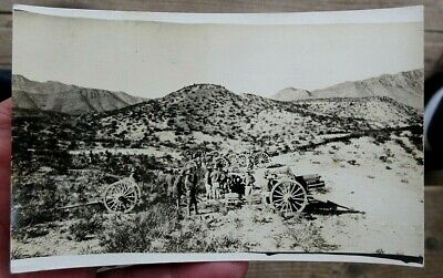 Ww1 Us Army Soldiers & Field Artillery Cannons Real Photo Postcard Rppc