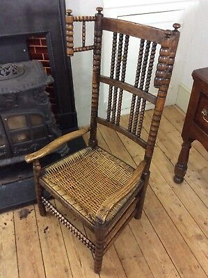 Arts and Crafts Bobbin Turner's Chair Nursing Elbow Gimson Ash Fireside Morris