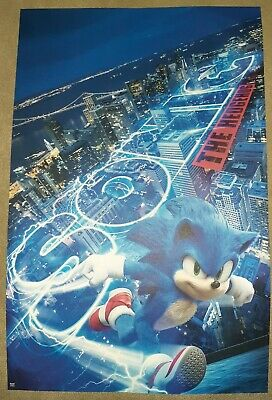 """""""Amc Exclusive 11""""×17"""" Sonic The Hedgehog Movie Poster"""""""