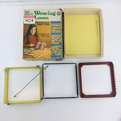 3 Adjustable Steel Weaving Loom Crafts by Whiting Instructions Loops '70