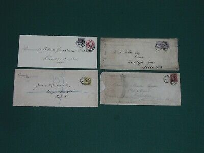 3 long GB QV covers and 1 long KE V11 cover mixed condition (S698)