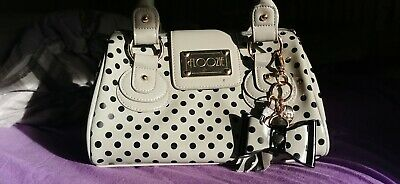 Floozie Bag Small Grey Black Polka Dot