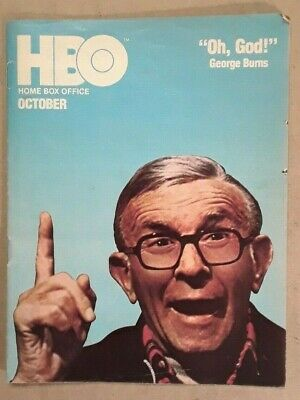 "HBO Home Box Office Cable Guide. October 1978. George Burns. ""Oh, God!"" VG"