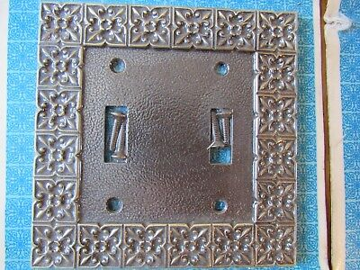 VINTAGE 2 New Old Stock Grants Decorator wall plates switch plate covers Metal