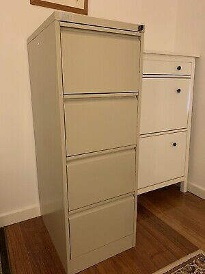 4 drawer filing cabinet Beige Metal GC