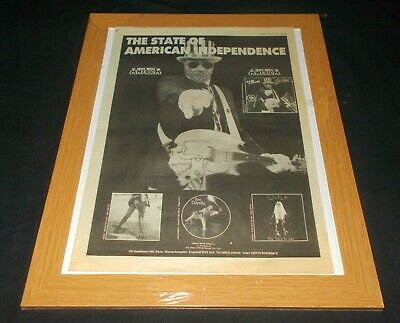 Nash The Slash - The State Of American Independence (Large 1985 Mag Advert)