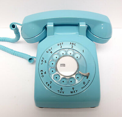 Aqua Blue Western Electric 500 Desk Telephone - Full Restoration