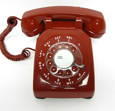 Red Western Electric 500 Desk Telephone - Full Restoration