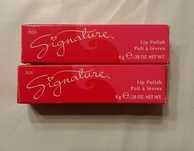 "Mary Kay Signature Lip Polish ""Sweet Maple"" .28 Oz Retired New In Box Lot Of 2"