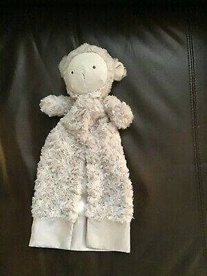 Kyle & Deena Gray Lamb Sheep Lovey Baby Blanket Soft Satin Lined Security Buddy