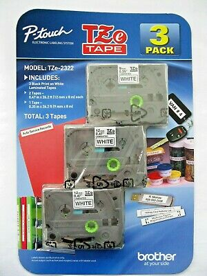 Brother P-touch Label Tape 3-Pack Model: TZe-2322