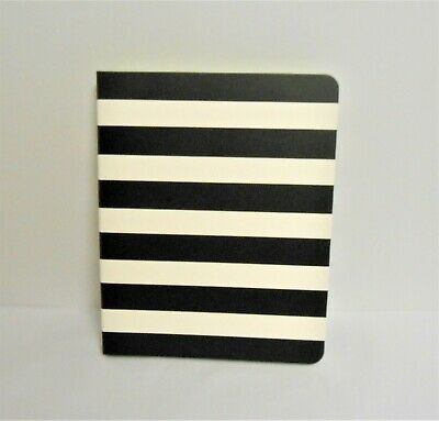 Kate Spade New York Black Stripe Concealed Spiral Notebook New