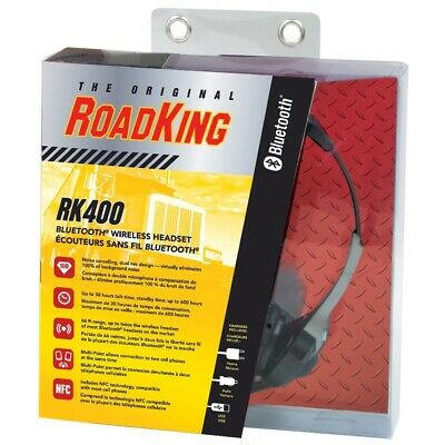 RoadKing RK400 Bluetooth Wireless Noise Cancelling Headset W/ Dual Mic - NOS