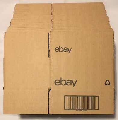 ebay Branded Boxes With Black Logo, 8 x 6 x 4, Lot Of 25, NEW