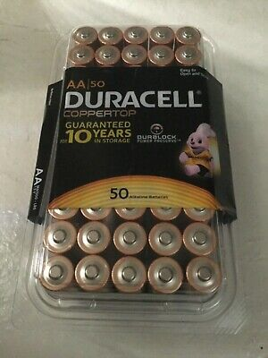 Duracell Coppertop AA Batteries - 50 Pack