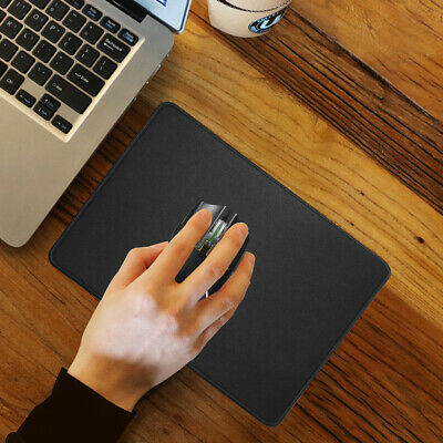 Premium-Textured Stitched Edge Lycra Non-Slip Rubber Mouse Pad Black,300*250*3mm