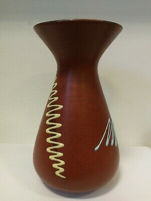 VINTAGE WEST GERMANY POTTERY VASE design modernist ceramic 60s 70s Pottery retro