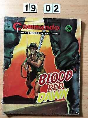 "Commando Comic # 615 from 1972  ""Blood Red Dawn"""