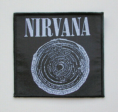 Nirvana Smiley Stripes Embroidered Iron On Patch grunge soundgarden pearl jam