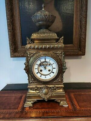 Impressive Open Escapement Quality Solid Brass Antique French Machenaud Clock