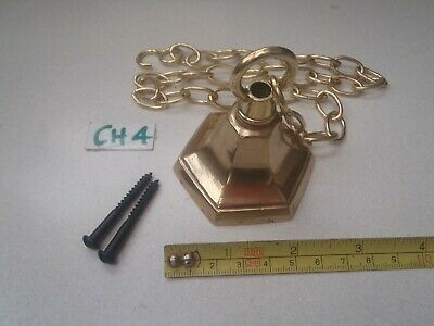A Reclaimed Polished Cast Brass Ceiling Hook / Chandeliers / Lighting (Ch 4)