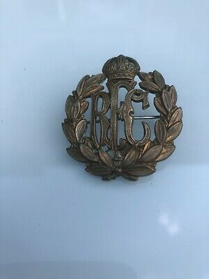 Antique WWI Royal Flying Corps Brass Cap Badge - Sweetheart Pin