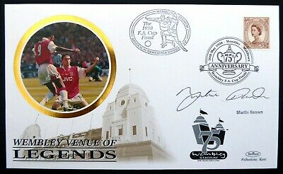GB 1998 Football Legend Benham Silk FDC Signed by Martin Keown CS778
