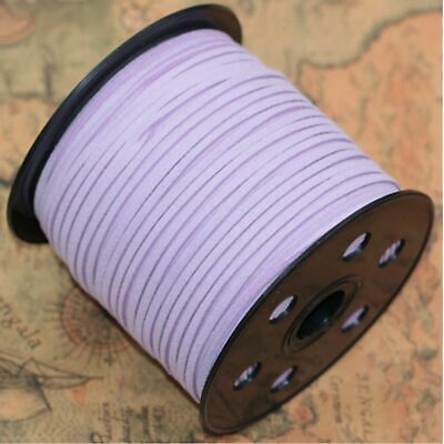 10yd 3mm Jewelry Making Thread Cords DIY Suede Leather String light purple/YYH
