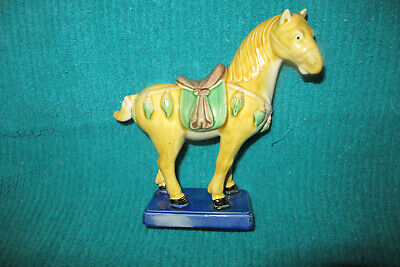 """2 Vintage Chinese Tang Horses, Impressed MADE IN CHINA,  6"""""""