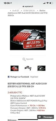 Boitier Additionnel ABT AUDI S3 8V Plug And Play