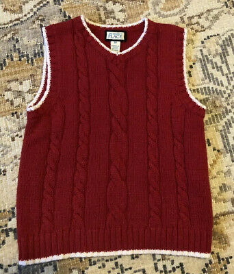The Children's Place Red Sweater Vest Toddler Boys Size 3T