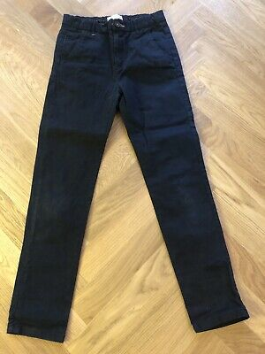 Zara Boys Navy Blue Chino Trousers Size 10 Years 140cm