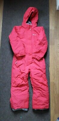 Pink Mountain Warehouse Waterproof all-in-one snow/ski suit, age 5-6yrs Exc Cond