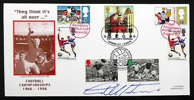 GB 1999 Football England World Cup 1966 Cover Signed by Geoff Hurst CS833