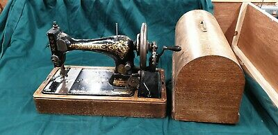 1896 Singer Hand Crank Vintage Sewing Machine with Victorian Decals 28K ? (200)