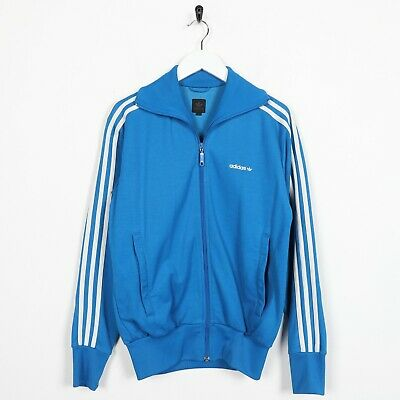 Vintage ADIDAS ORIGINALS Trefoil Logo Tracksuit Top Jacket Blue White | Small S