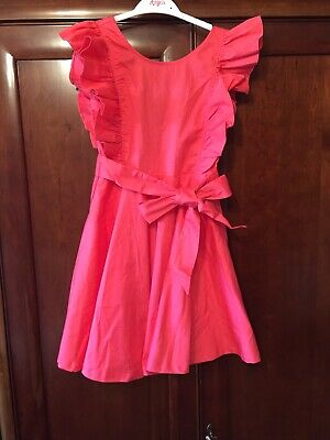New Girls La Redoute abcd R Coral Pink Frill Ruffle Dress Age 10 years Wedding