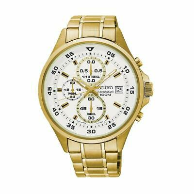 Seiko SKS632 Chronograph White Dial Gold Stainless Steel Men's Watch SKS632P1