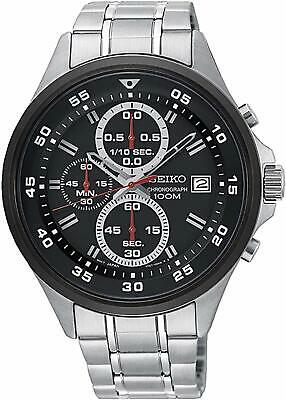 Seiko SKS633 Chronograph Black Dial Stainless Steel Quartz Men's Watch SKS633P1